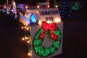 Thanks for your support! All money goes back into the Christmas light fund!