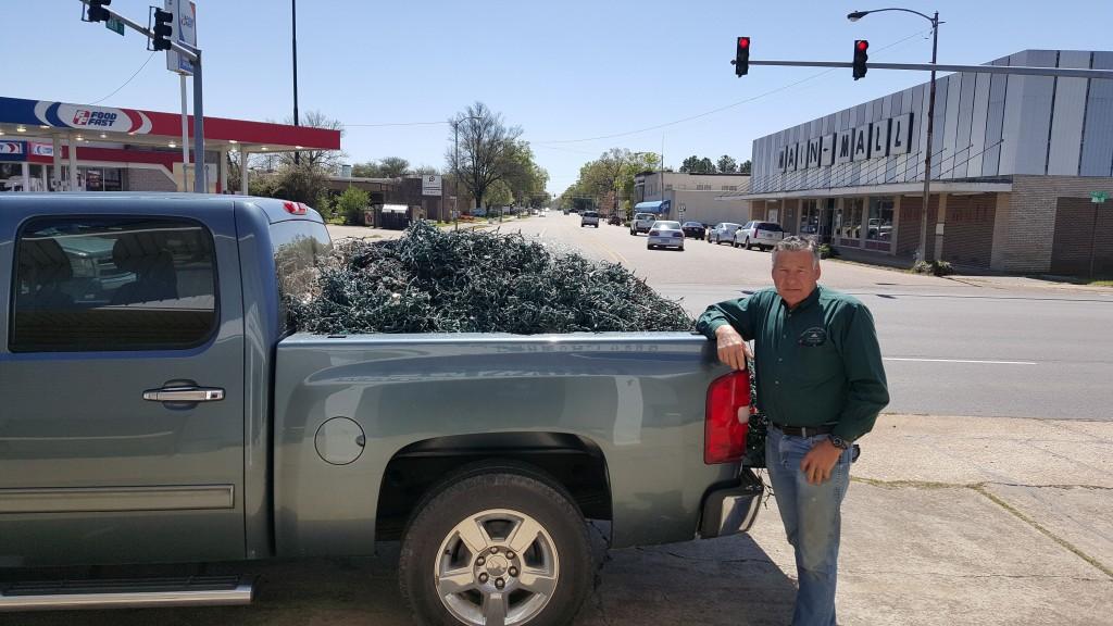 Sam Finney Recycles Christmas Lights!